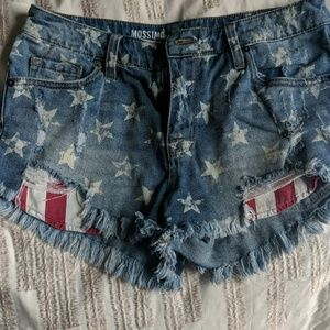 Mossimo stars and stripes jean short